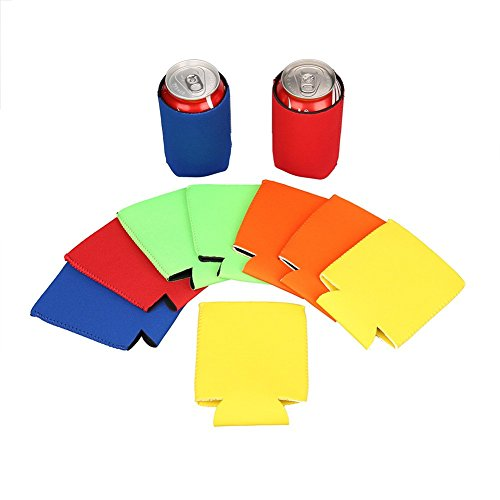 e-living 330ml (12oz) plegable neopreno puede/botella de cerveza//enfriador de bebidas/Pantalla/cubierta/aislante/Soporte/Aro/funda para cola/Cerveza/Soda–6unidades