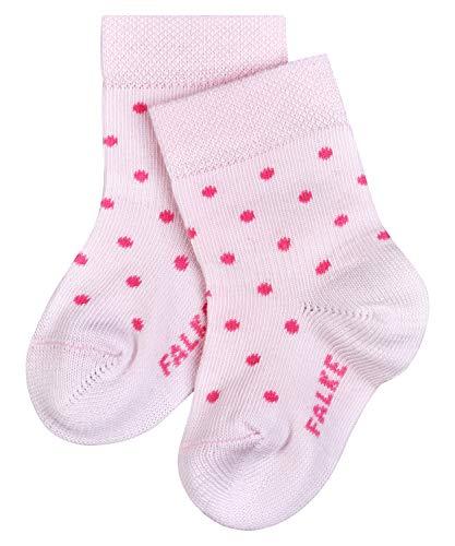 FALKE Unisex Baby Little Dot B SO Socken, Rosa (Powder Rose 8902), 1-6 Monate (62-68cm)