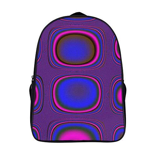 Xiahail Stilvolle Schultasche für Mädchen und Jungen, Reisetasche, Laptoprucksack, Studententen-Daypack, langlebig, multifunktional, Freizeit-Bookbag, lilafarbenes Grafik-TV-Signal,