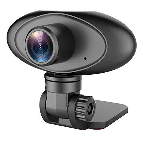Webcam con micrófono, interfaz USB 2.0, cámara web 1080P, con tapa de objetivo, cámara web en streaming, para vídeo, llamada de vídeo, enseñanza, juegos, transmisión en directo, etc.