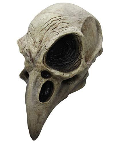 Horror-Shop Krähenschädel Totenkopf Maske - Vollkopf - Latex