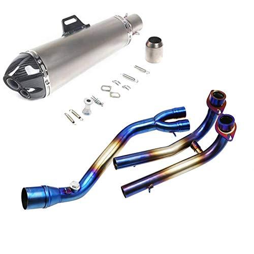 Para TMAX 530 TMAX 500 TMAX530 TMAX500 2008-2016 TMAX Slip en el sistema completo del silenciador del tubo de escape de la motocicleta (Color : B 03)