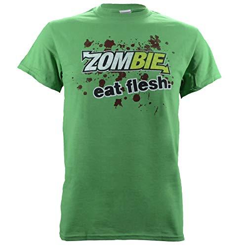 Subway Parody Zombie Eat Flesh on Green Shirt