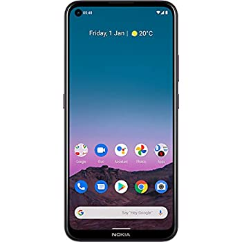 Nokia 5.4   Android 10   Unlocked Smartphone   2-Day Battery   Dual SIM   US Version   4/128GB   6.39-Inch Screen   48MP Quad Camera   Dusk