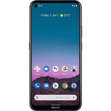 Nokia 5.4 | Android 10 | Unlocked Smartphone | 2-Day Battery | Dual SIM | US Version | 4/128GB | 6.39-Inch Screen | 48MP…