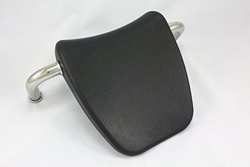 Di Vapor (R) Grey Whirlpool Bath Headrest Pillow with Metal Mounting Bars - 25cm