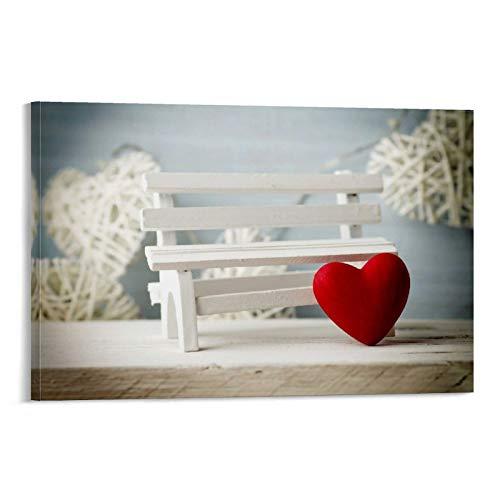 DRAGON VINES Póster con forma de corazón de amor, para parejas, decoración de pared, 30 x 45 cm