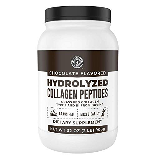Chocolate Collagen Peptides Protein Powder (2lb Value Size - 70 Servings) - Keto Collagen, Hydrolyzed and Grass Fed - Coffee Creamer, Shakes, Hot Chocolate and Smoothies