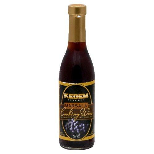 Kedem Cooking Wine Marsala No Sugar, 12.7-Ounce Glass Bottle  (Pack of 6)