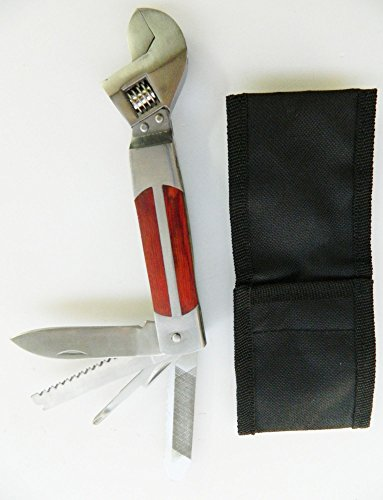 Clé à Molette Couteau Outils Multi-Fonctions 5 en 1 camping voyage randonnée