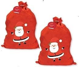 2 X LARGE FATHER CHRISTMAS SANTA SACK RED STOCKING GIFT PRESENTS XMAS