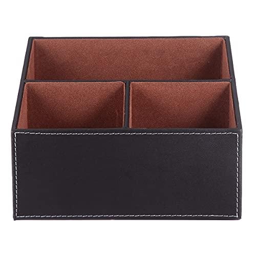 DOITOOL Caja de almacenamiento de escritorio creativa caja de almacenamiento trapezoidal caja de negocios oficina caso