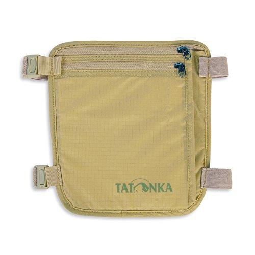 Tatonka Skin Secret Pocket - Sicherheits-Geldbeutel zum Tragen am Bein - Bietet Platz für Reisepässe, Kreditkarten, Bargeld, etc. - Mit weicher und hautfreundlicher Rückseite - beige - 19 x 19 cm