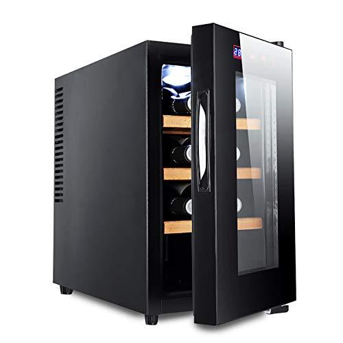 CLING Refrigerador de Vino 8 Botellas Empotrado o Independiente con Acero Inoxidable y Puerta de Vidrio Templado de Doble Capa Ahorro de energía Operación silenciosa