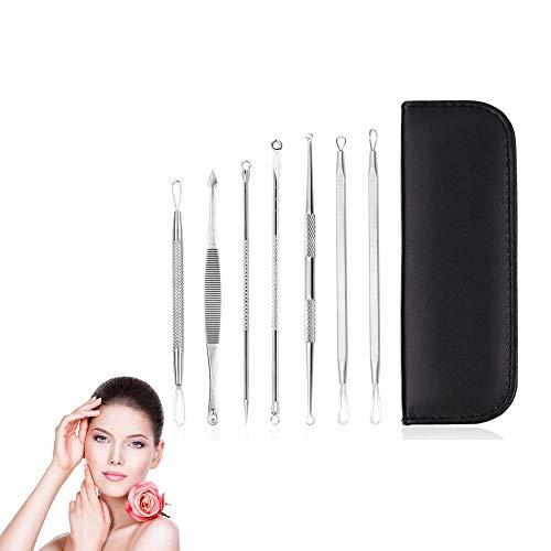 Blackhead Remover Acne Beauty Needle Set Makeup Facial Cleaning Tools avec sac de rangement