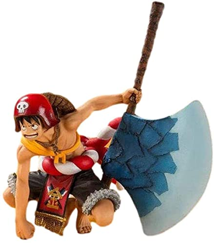 Anime Figures One Piece Ruffy Back Ax Battle Momomaru Kintaro Anime Model Collectibles Anime Gifts Toys Model Kits Exquisite Ornament Decoration