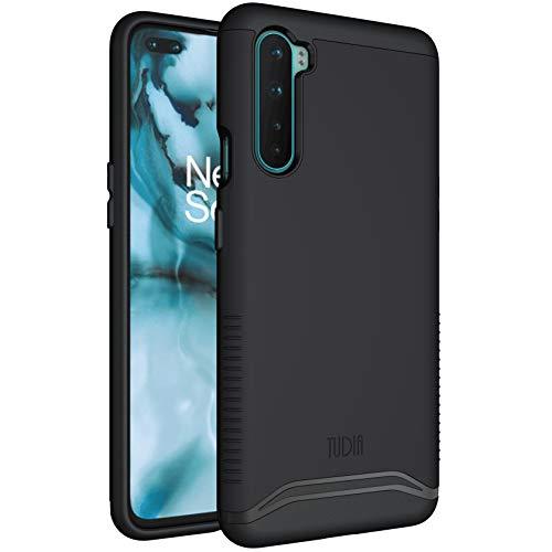 TUDIA DualShield - Funda protectora para OnePlus Nord 5G, [Fusionar] a prueba de golpes, de grado militar, delgada, de doble capa, de policarbonato duro, suave, color negro mate
