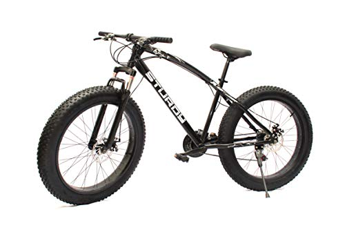 Sturdy Fat Bike with 26X4 INCH Tires (BLACKK) - Fat Mountain Bike