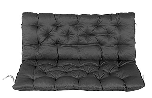 Ambientehome Bench Seat Pad with Backrest, 100 x 98 x 10 cm