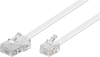 Wentronic Goobay 3m RJ-11/RJ-45 Cable Blanco - Adaptador para Cable (RJ-45, RJ-11, Male Connector/Male Connector, 3 m, Blanco)
