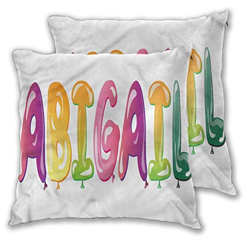 Abigail Decorative Pillows Cushion Covers Fathers Joy Girl Name for Couch Sofa Home Decoration Modern 24