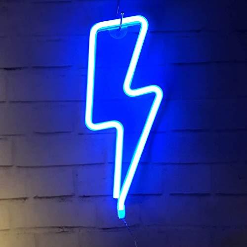 Kacoco Neonlicht, LED Lightning Sign geformt Dekor Licht, Wand-Dekor für Weihnachten, Geburtstagsfeier, Kinderzimmer, Wohnzimmer, Hochzeit Party Decor (Blau)