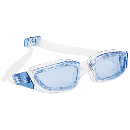 Aqua Sphere Kameleon Swim Goggles with Blue Lens (Clear Blue). UV Protection Anti-Fog Swimming Goggles for Adults