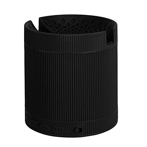 FAGavin Negro Sistema portátil de música Mini Altavoz estéreo 3D de Sonido del Altavoz inalámbrico Bluetooth con Altavoces de Sonido Envolvente Soporte for teléfono móvil