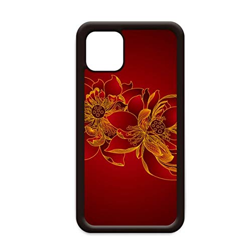 Rode Lotus Bloem Lotus Zaad Bloem Plant voor Apple iPhone 11 Pro Max Cover Apple Mobiele Telefoon Case Shell, for iPhone11 Pro