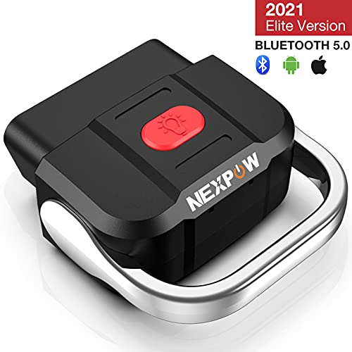 N E X P O W OBD2 Scanner Bluetooth 5.0, Car Diagnostic Scan Tool Check Engine Code Reader for Android & iPhone- Compatible with Torque and Car Scanner
