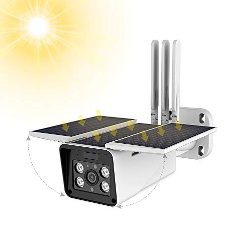 FUVISION Solar Powered Wireless OutdoorSecurity Camera