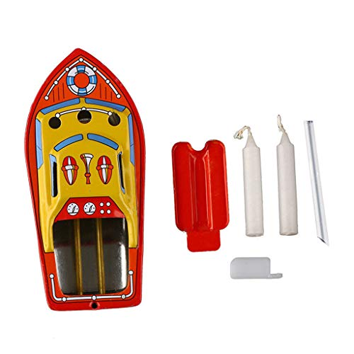 Fasclot Vintage Boat Steam Powerd Collectable Toy Boat Educational Recycle Retro Tin Boa
