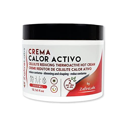 Zafire Crema efecto calor quema grasa. Gel reductor abdominal termoactivo Reduce el contorno y elimina la piel de naranja, con Guaraná y Centella Asiática, 300 ml