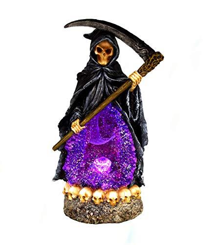 Divine Grim Reaper Death Backflow Cone Incense Burner Light Up Crystal 11
