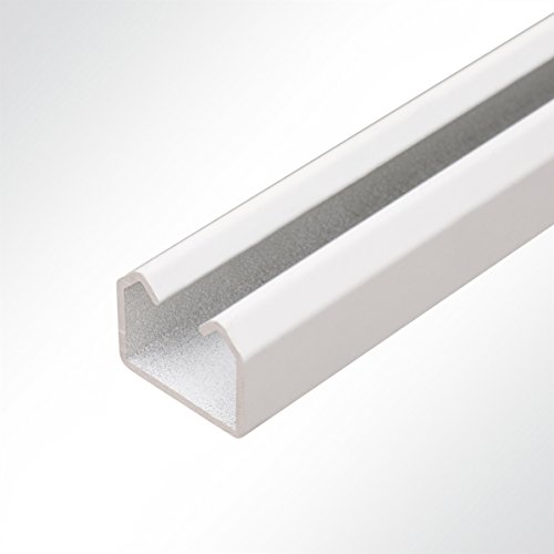 LYSEL® Laufschiene Aluminium weiß 25x19 Schiebetor Schiebetür Hallentür 2 Meter