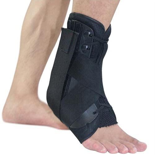 Tobillera de apoyo para el tobillo, de tamaño S/M/L, correas ajustables para el tobillo, soporte para deportes de caída, soporte para pie de ortesis, estabilizador de tobillo