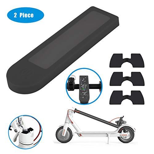 Tinke 4 Stücke Scooter Ersatzteil Zubehör wasserdichte Silikonhülle für LED Anzeige und 3 Schwingungsdämpfer aus Gummi für Xiaomi Mijia M365/ M365 Pro Scooter - Schwarz
