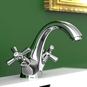 EISL Grifo mezclador de dos válvulas para lavabo Nostalgie II, NI075NO2CR