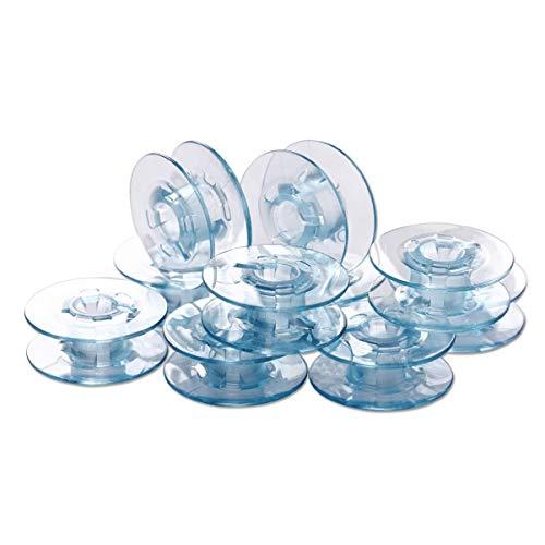 SUPVOX Bobine per Cucire Trasparenti Bobine per Macchine da Cucire Bobine per Molte Macchine da Cucire Modello pfaff 10 Pezzi (Blu)