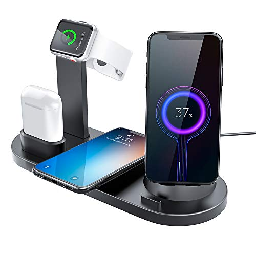 Wireless Charger Docking Station, 6-in-1 Multi Device Charging Stand for...