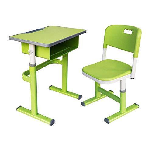 N/Z Tägliche Ausrüstungstische Student Schreibtisch und Stuhl Set Höhe Verstellbare Schreibtische Stühle Workstation mit Schublade und Haken Blau