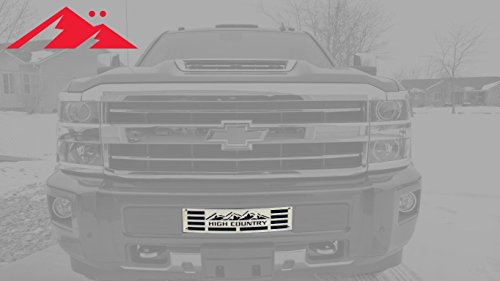 Mountains2Metal HIGH Country Edition Brushed Stainless Finish Compatible with 2015-2019 Chevy Silverado 2500 3500 HD M2M #400-130-3