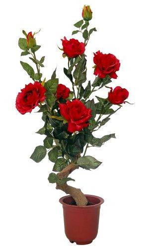 McPalms Rosenpflanze 60 cm rot Kunstpflanze