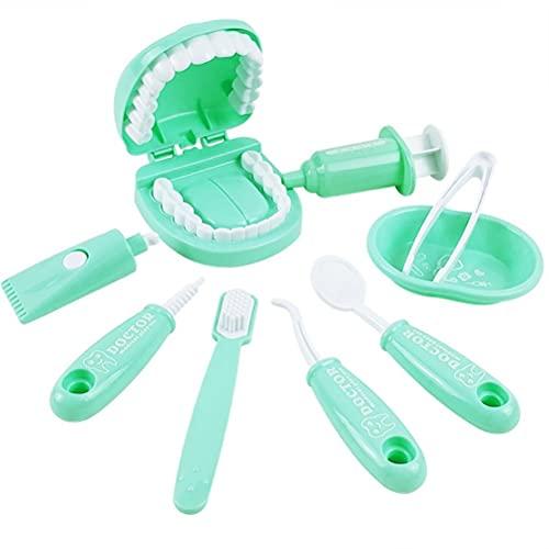 BST-MAI Kit Dentisti per Bambini, Valigetta Dottore Bambini, 9pz Kit Dottoressa Bambina, Kit Dottore Giocattolo per Bambini - Giocare Al Dottore Fai F