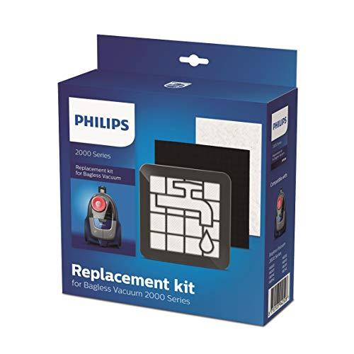 Philips Kit repuesto Aspirador sin bolsa serie 2000 XV1220/01- Repuestos de filtro original de Philips, compatible con el aspirador sin bolsa serie 2000 (XB2XXX)