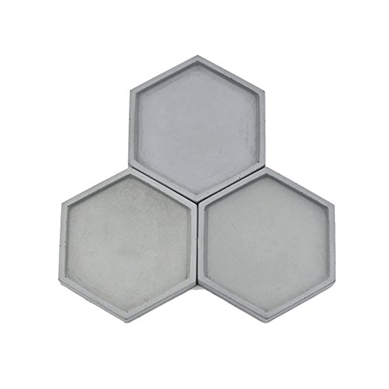 Hexagon Concrete Tray Mold Cement Plate Mold Silicone Coaster Mold,Molds for Casting