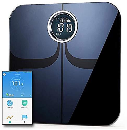 Superficie de vidrio monitor de grasa corporal Bluetooth Sma