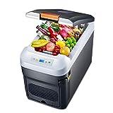 ROM Refrigerador portátil de 35 litros para vehículos, automóviles, Camiones, caravanas, Botes, Mini frigorífico congelador para Conducir, Viajar, Pescar, Uso en Exteriores y