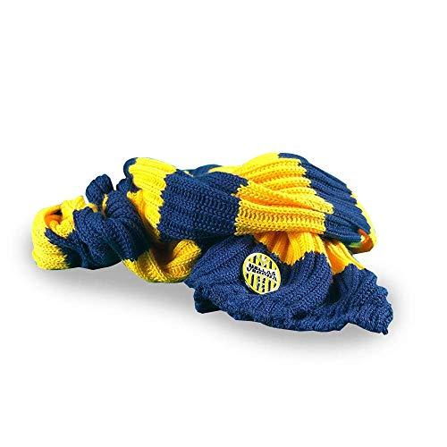 Hellas Verona FC HVRS Unisex sjaal voor volwassenen, geel/blauw, eenheidsmaat
