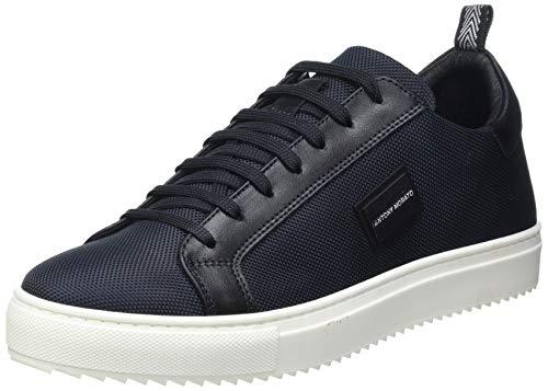 Antony Morato Herren Sneaker DUGGER Metal IN Nylon E Pelle Oxford-Schuh, Ink Blau, 39 EU